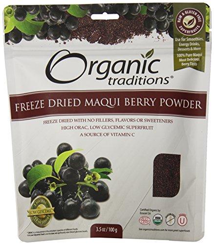 Organic Traditions Organic Powder  Maqui Berry  3 5 Ounce
