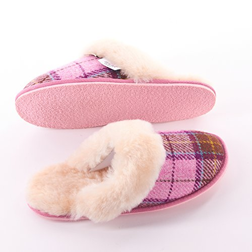 Snow By Tweed Slippers Tartan Ladies Pink Harris Paw YnTHBB