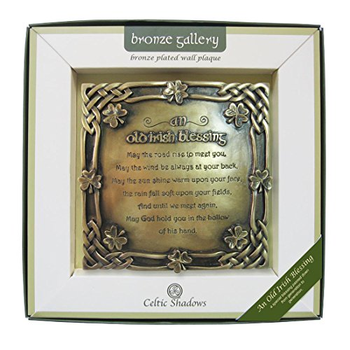 Royal Tara Bronze Plated Wall Plaque With Old Irish Blessing Design