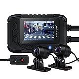 Motorcycle Dash Cam Motorcycle Recording Camera 1080p Dual Lens Video Recorder Motorcycle Dash Cam Sports Action Camera 130 Degree Angle Night Vision (DV688 dash cam)