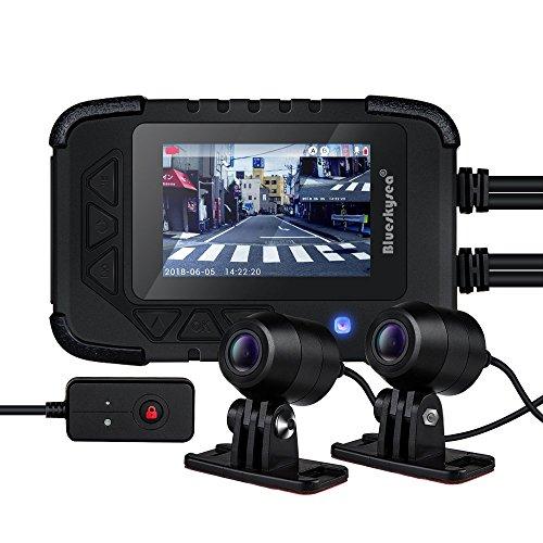Blueskysea DV688 Motorcycle Dash Cam with GPS Module 1080p Dual Lens Motorcycle Recording Camera 2.35