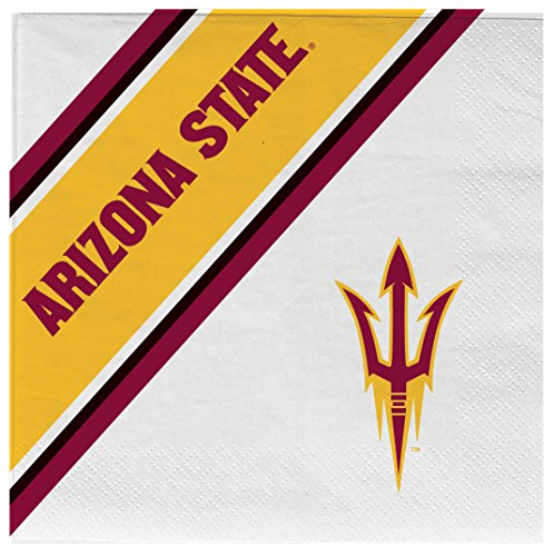 - NCAA Arizona State Sun Devils Disposable Paper Napkins, Pack of 20