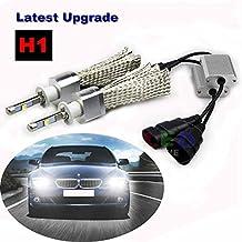 SWEON 2PCS 80W 9600LM H1 CREE XHP-50 Chip Car LED Headlight High/Low Beam Bulbs Super White 6000K LED Headlight Conversion Lamp Kit H3 H4 H7 H8 H9 H10 H11 H13 9004 9005 9006 9007 9012
