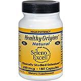 Healthy Origins Seleno Excell Selenium – 200 mcg – 180 Capsules