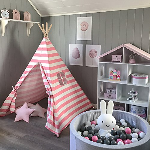 new products 88d66 1e1df free shipping Tiny Land Kids Teepee Tent for Girls Princess ...