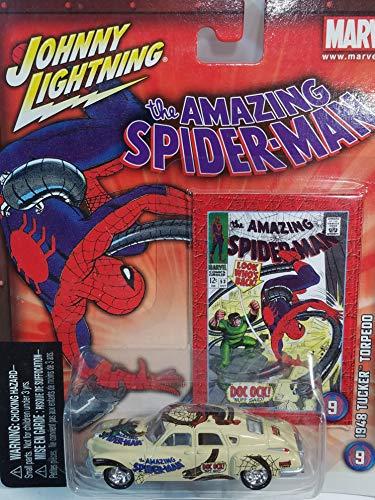 (Johnny Lightning Marvel Series #9 Spiderman vs Doctor Octopus 1948 Tucker Torpedo 1/64 Scale Diecast Car)