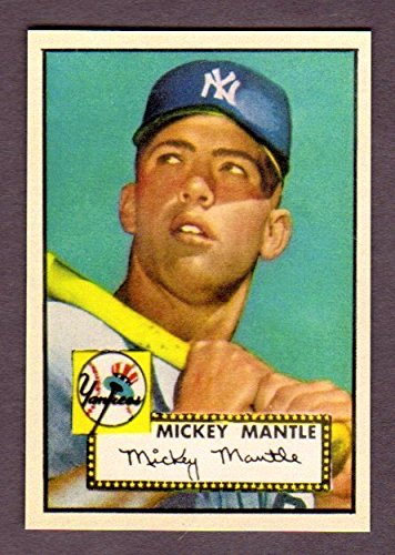 Mickey Mantle 1952 Topps Baseball Rookie Reprint Card (Yankees) ()