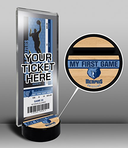 NBA Memphis Grizzlies My First Game Ticket Display Stand, One Size, Multicolored by That's My Ticket