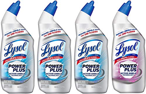 - LYSOL Toilet Bowl Cleaner, 24 oz (Pack of 4) (Power Plus Pack)