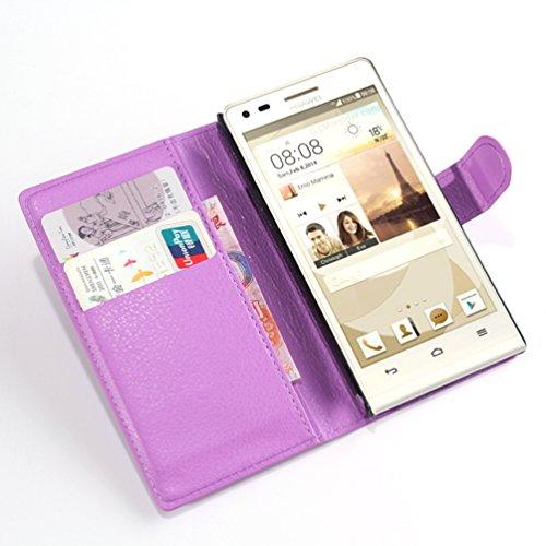 Manyip Funda Huawei P7 Mini/Huawei G6,Caja del teléfono del cuero,Protector de Pantalla de Slim Case Estilo Billetera con Ranuras para Tarjetas, Soporte Plegable, Cierre Magnético(JFC5-14) B