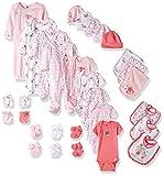 Gerber Baby Girls 30 Piece Essentials Gift Set, Lilac Flowers, 0-3M: Onesies/Sleep 'n Play/Sock/Mitten, 0-6M: Gown/Cap, 0-6 Months One Size: Bib/Burp