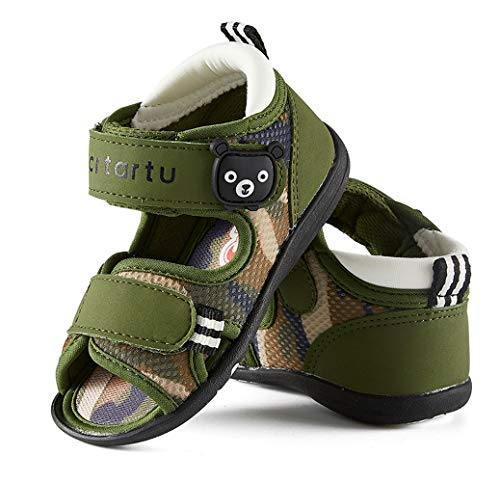 CRTARTU Baby Shoes Baby Sandals Toddler Shoes for Summer,Anti-Slip Crib Shoes Flexible to 0-5 Years Baby Walking Shoes,Camouflage Water Shoes