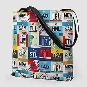 """Airportag XL AIRPORTS USA - TOTE BAG 16"""""""