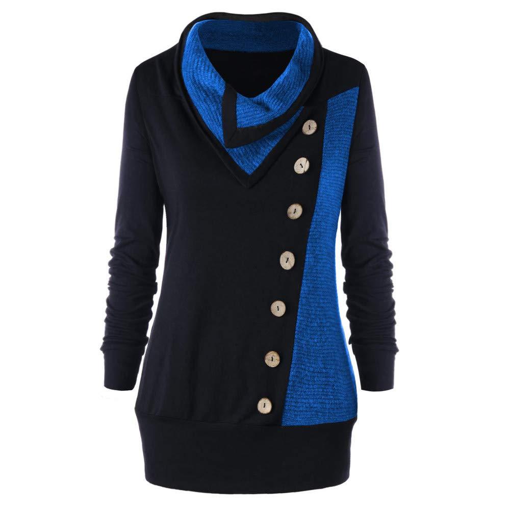 Sweatshirt Dress Women Long Sleeve, Sunyastor Ladies Cowl Neck Plaid Drawstring Button Sheath Ruched Midi Tunic Pullover Dress