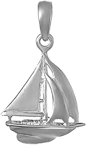 925 Sterling Silver Sailboat Charm and Pendant