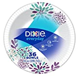 Dixie Everyday Paper Bowls, 10 Ounces, 36 Count, Lunch Size Disposable Plates
