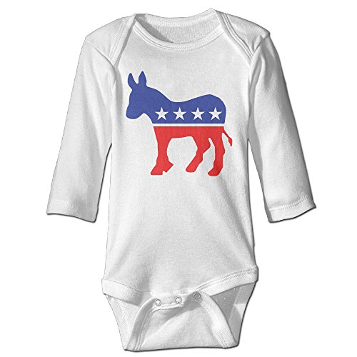 Raymond Democrat Donkey Long Sleeve Bodysuit Baby Onesie White 6 M (Baby Costume Breaking Bad)