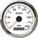 KUS Waterproof GPS Speedometer Odometer Gauge 0-200KM/H Car Motorcycle Trucks 85mm