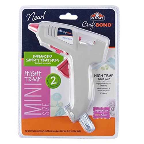 Elmers Craft Bond High-Temp Mini Hot Glue Gun, 10W (E6048)
