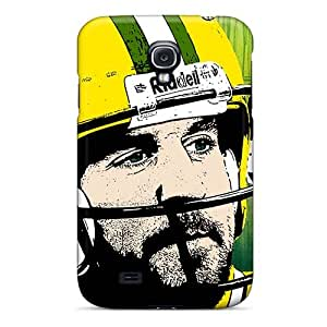 Protector Cell-phone Hard Cover For Samsung Galaxy S4 With Unique Design Colorful Green Bay Packers Pattern AshtonWells