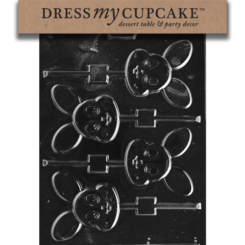 Dress My Cupcake Chocolate Candy Mold, Baby Bunny Lollipop,