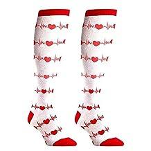 RN NURSE GIFTS SOCKS - Cute Fun Design Matches Your Uniform -New White Knee High