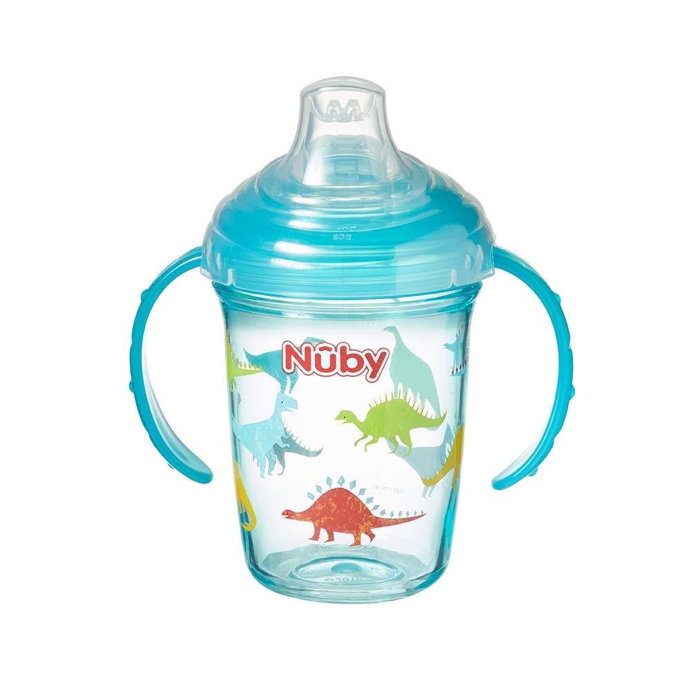 Nuby Tritan Grip n Sip Taza de desayuno dise/ño de dinosaurios color azul