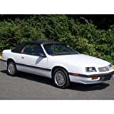 Lebaron 1987-1995 Convertible Top Front and Plastic Window in Black Pinpoint Vinyl
