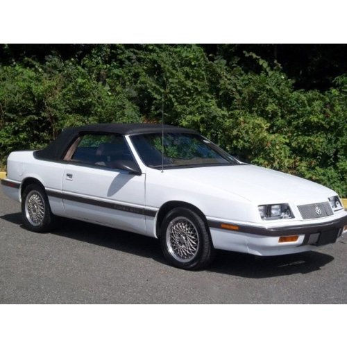 Lebaron 1987-1995 Convertible Top with Heated Glass Window in Black Pinpoint - Chrysler Convertible 1993 Lebaron