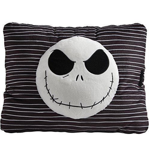 (Pillow Pets Expressions, Disney Nightmare Before Christmas Jack Skellington Black 16