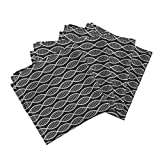 DNA Geek Nerd Biology Science Doctor Black and White Organic Sateen Dinner Napkins DNA Strands (Black and White) by Robyriker Set of 4 Dinner Napkins