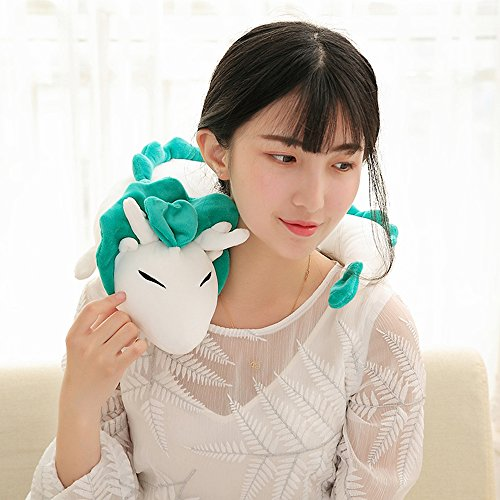 SUPOW Plush Doll Toy Pillow, Dragon U-Shape Anime Cute Neck Pillow Doll Lovely Dragon Soft Stuffed Plush Toy for Kids Girls and Friends ()