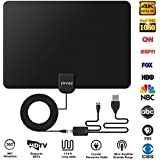 HDTV Antenna, Indoor HD Digital TV Antenna, 150 Miles Range with Detachable Amplifier Signal Booster and 13ft Coax Cable for 4K 1080P All Kinds of TV and Freeview Local Channels