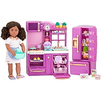 Our Generation Gourmet Kitchen Set Purple For  Dolls