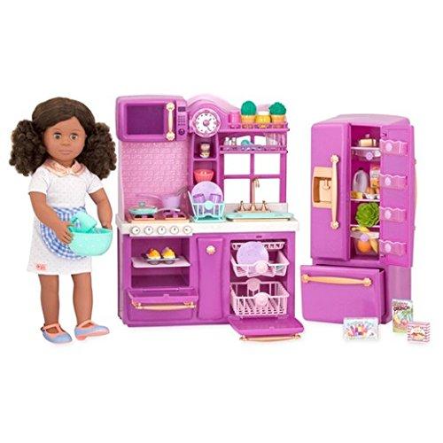 Our Generation Gourmet Kitchen Set, Purple, For 18 Dolls ()