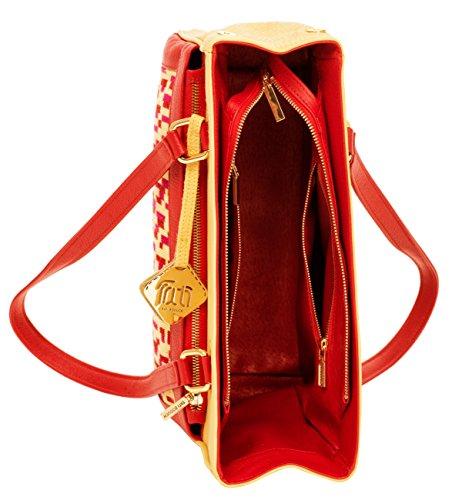 Vera Collezione Mosaici In Tati Borsa Maglieria Boduch Pelle Di Design Rosso La Giallo 1TwTI0X