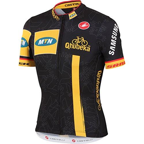 Castelli Mens Mtn Qhubeka Team Short Sleeve Cycling Jersey - V4001001 (Mtn-Qhubeka - XL)