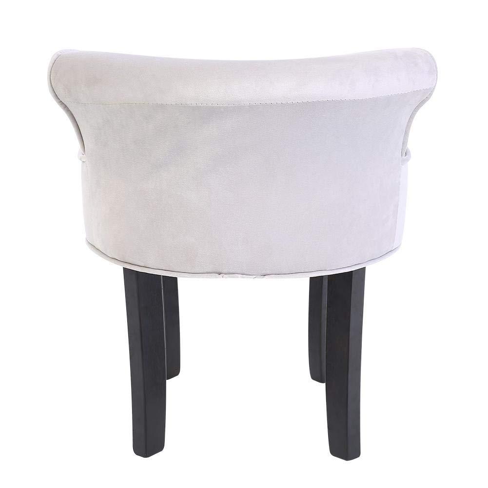 13.5cm 47.5 Chaise de Chambre Gris Tabouret de Coiffeuse Meuble Tabouret Tabouret avec Dossier 56