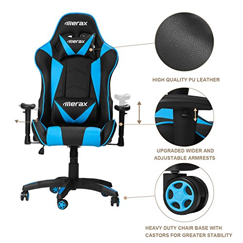 51nXzx1I3bL - Merax-Gaming-Chair-High-Back-Computer-Chair-Ergonomic-Design-Racing-Chair