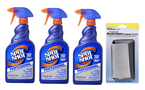 Spot Shot 32 oz. Professional Instant Carpet Stain Remover (Pack of 3) + FREE Microfiber Cleaning Cloth by Spot Shot (Image #1)