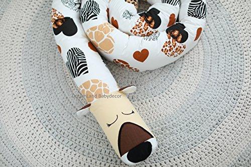 CHEETAH Baby Pillow, Handmade Pillow, Bolster Pillow by DreamLand Babydecor