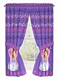 Disney Junior Sofia The First Graceful Drapery/Curtain 4pc Set (Two panels, two tie backs)