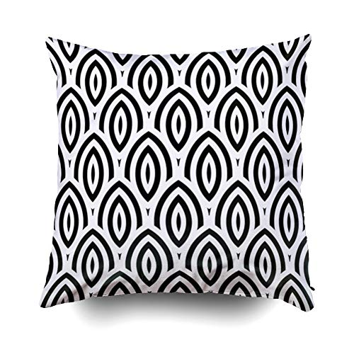 Shorping Zippered Pillow Covers Pillowcases 16X16 Inch Christmas Abstract Vintage Geometric Wallpaper Pattern Background Decorative Throw Pillow Cover,Pillow Cases Cushion Cover for Home Sofa Bedding