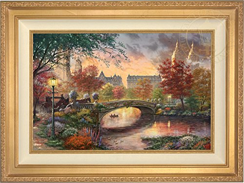 "Thomas Kinkade Autumn in New York 18"" x 27"" Gallery Proof (GP) Limited Edition Canvas (Antique Gold)"
