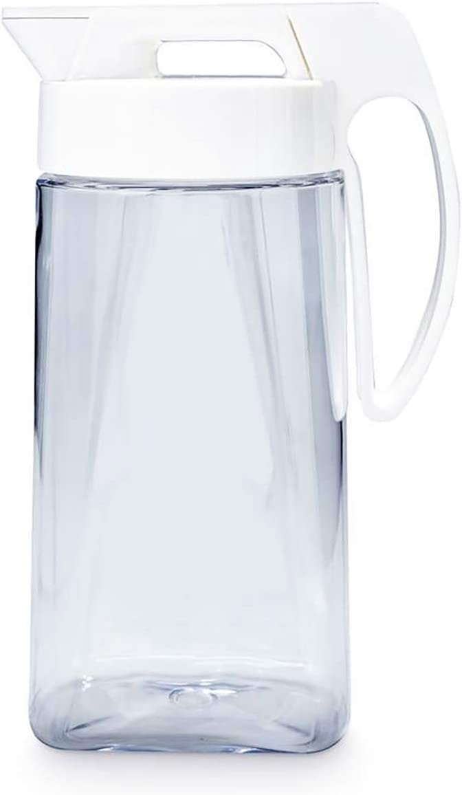 Lustroware Easy Care One-touch Airtight Pitcher 1.7QT (54oz) for Hot or Cold Liquids | High Heat Resistant, Leak Proof & Space Saving | Made in Japan