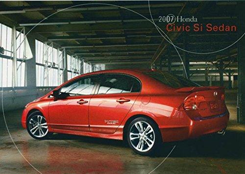 2007-honda-civic-si-sedan-original-factory-postcard