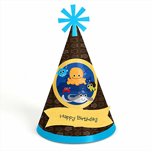Under The Sea Critters - Cone Birthday Party Hats - 8 (Under The Sea Party Hats)