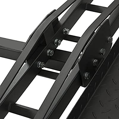 Steel Motorcycle Scooter Dirtbike Carrier Hauler Hitch Mount Rack Ramp Anti Tilt from EGO