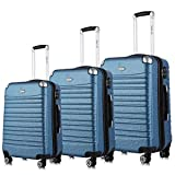 Hard Shell Luggage Set TSA Spinner Suitcase Lightweight Carry On 3 Piece