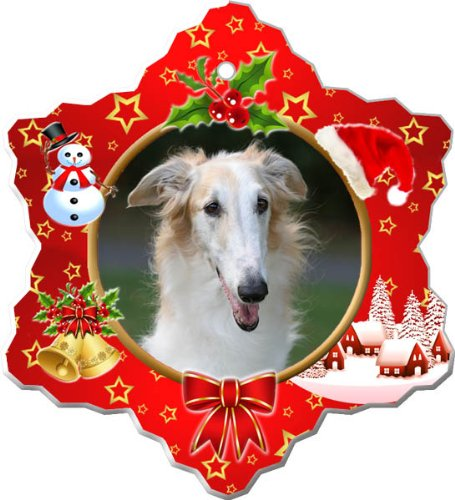 Borzoi Porcelain Holiday Ornament